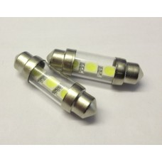 Ultra Bright White Interior / Number Plate SMD LED Bulbs 39mm
