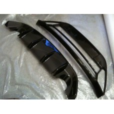Ford Focus RS Mk2 Carbon Rear Diffuser & Front Bumper Mouth Package