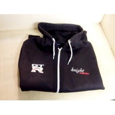 Knight Racer GTR Zip Up Hoodie in Black