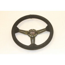 Outlaw Steering Wheel All Black Suede Black Spoke