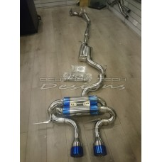 Golf R 2011+ 2.0T DTD Performance Exhaust System with Titan Tips