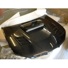 Subaru Impreza 07-08 Hawk Eye C West Hybrid Carbon Bonnet