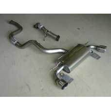 Ford Focus RS Mk2 Mongoose Turbo Back Exhaust System without Cat