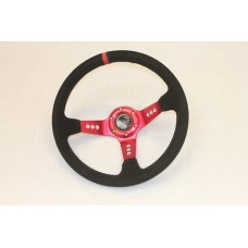Outlaw Dished Steering Wheel Red