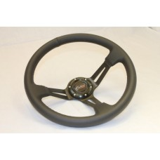 Outlaw Dished Steering Wheel PVC Black