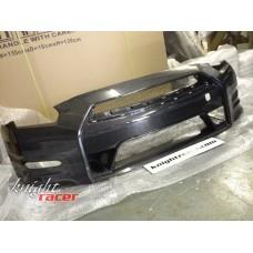 Nissan R35 GTR KR 2012+ (DBA) Full Hybrid Carbon Front Bumper (Dry Carbon)