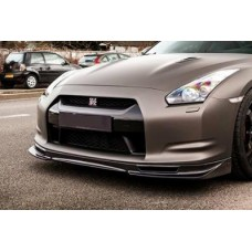 Nissan R35 GTR MS Hybrid Carbon Front Splitter with brake cooling vents