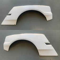 BMW E46 Compact Light Weight Wider Vented Rear Wings / Fenders FRP